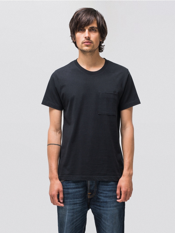 Kurt Worker Tee Black t-shirts tees short-sleeved solid