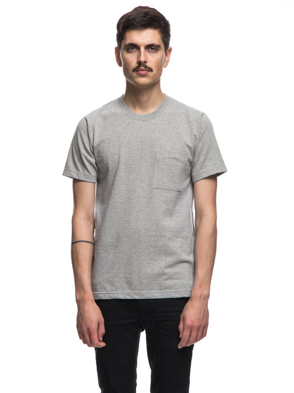 Kurt Worker Tee Greymelange short-sleeved tees solid