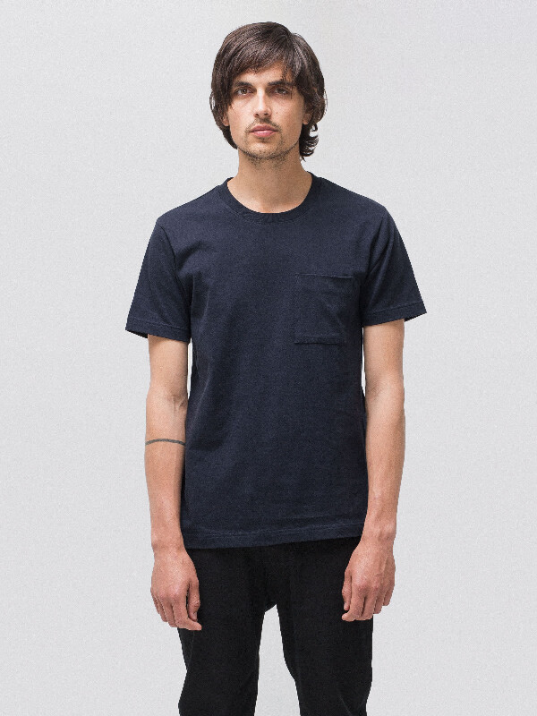 Kurt Worker Tee Navy short-sleeved tees solid