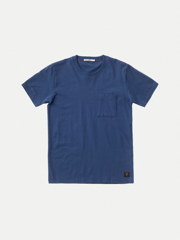 Kurt Worker Tee Oden Blue short-sleeved tees solid