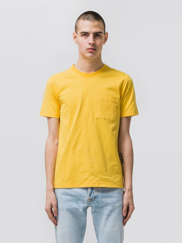 Kurt Worker Tee Sun Yellow short-sleeved tees solid