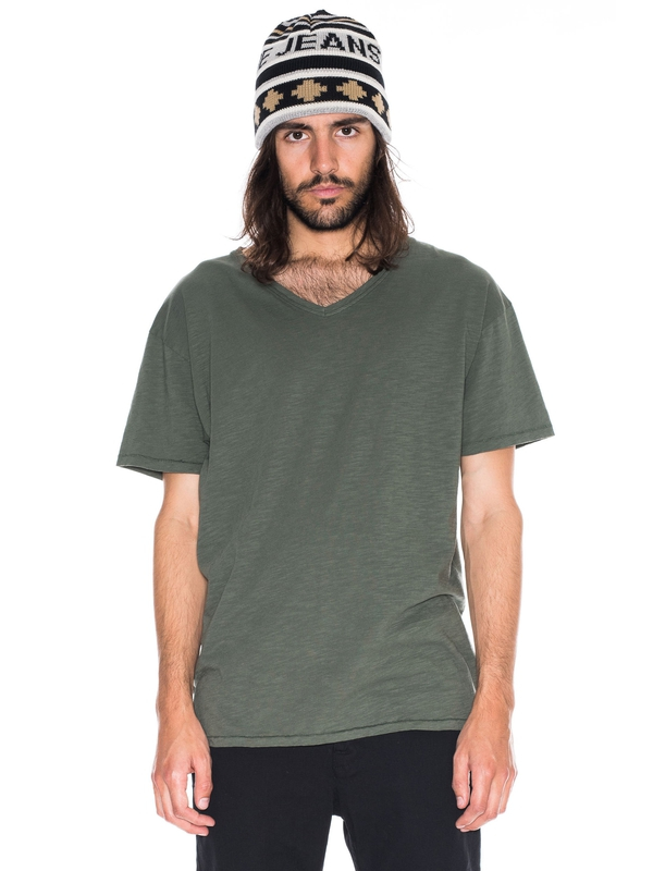 Lasse Loose V-Neck Mirage short-sleeved tees solid