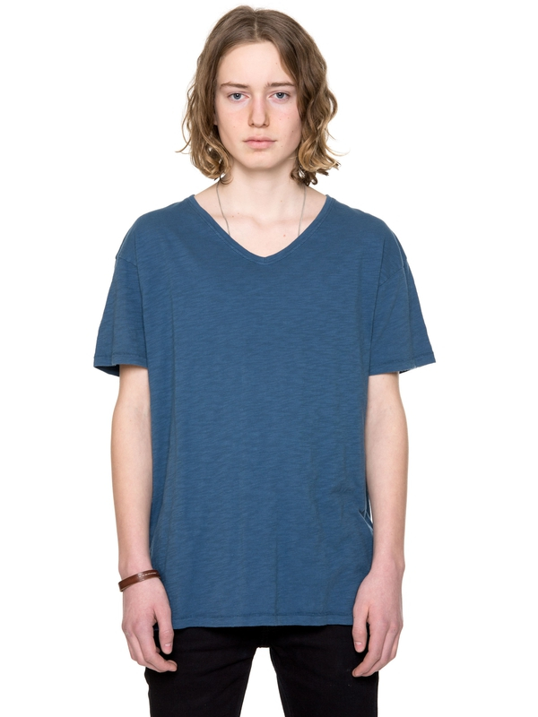 Lasse Loose V-Neck Tide short-sleeved tees solid