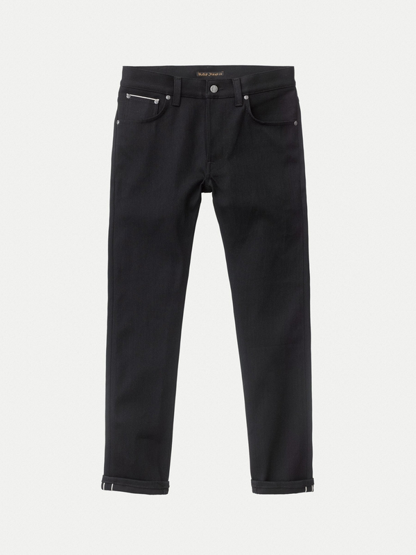 Lean Dean Dry Black Selvage black jeans