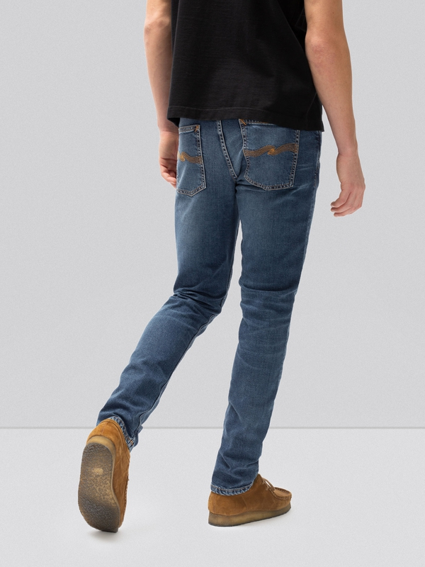 Lean Dean Mid Blue Orange prewashed jeans