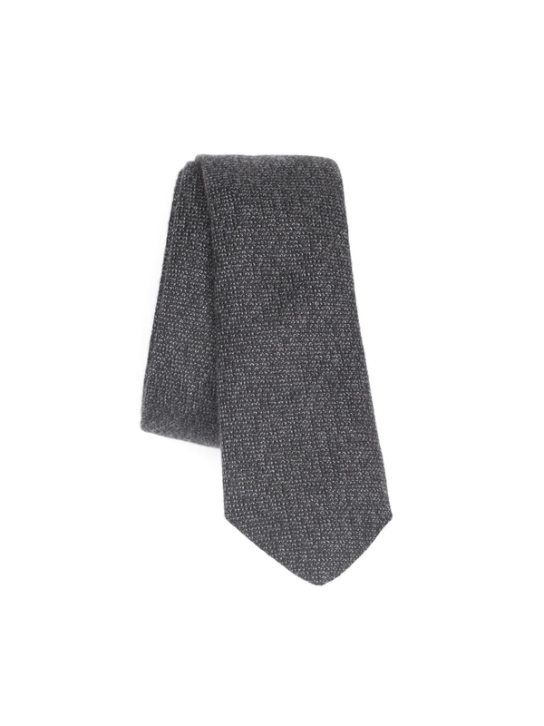 Leandersson Tie Mouline Grey scarfs accessories