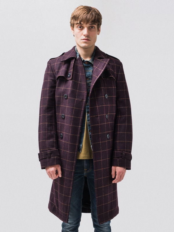 Lennart Wool Check Trench jackets