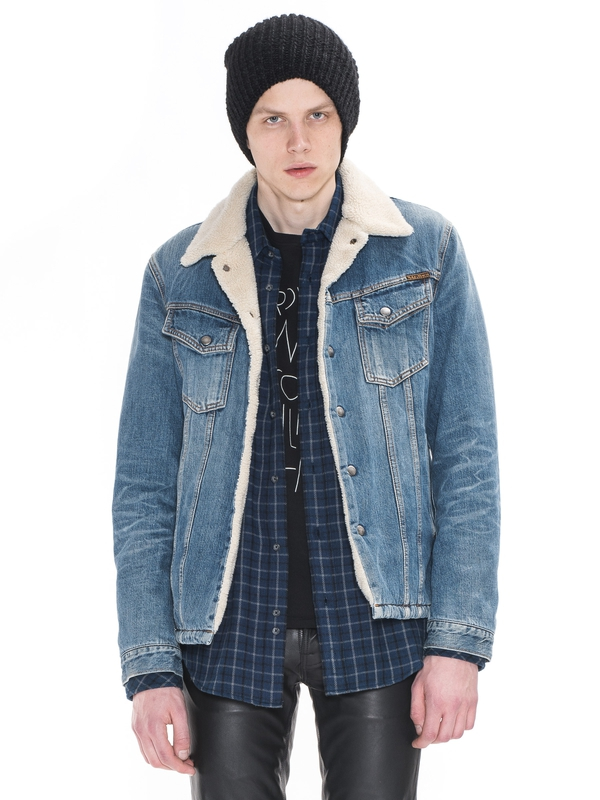 Lenny Tangerine Blue Denim prewashed denim-jackets