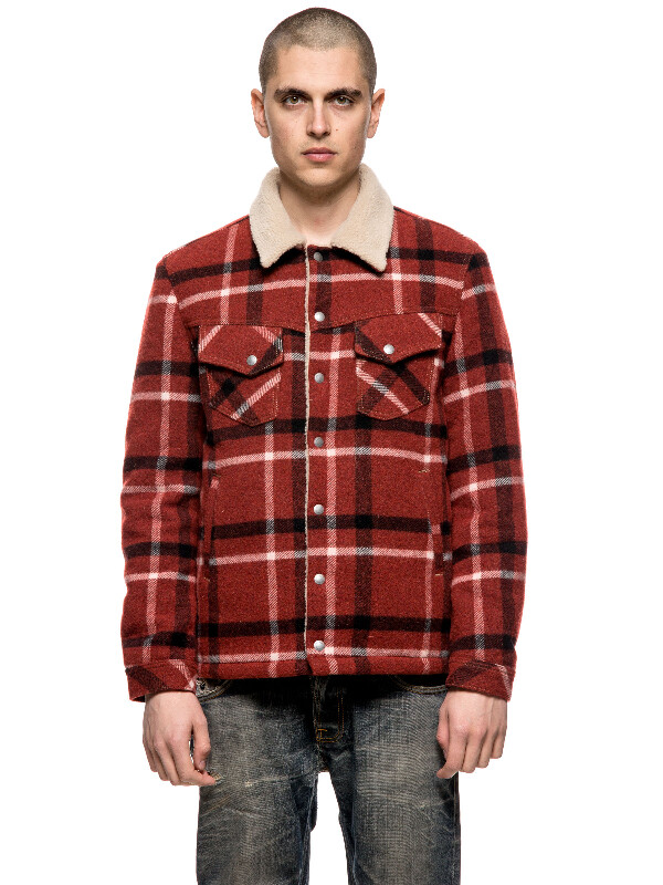Lenny Wool Check Ruby jackets