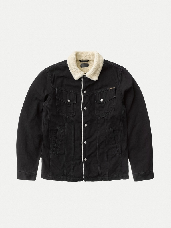 Lenny Black Worn Black black denim-jackets