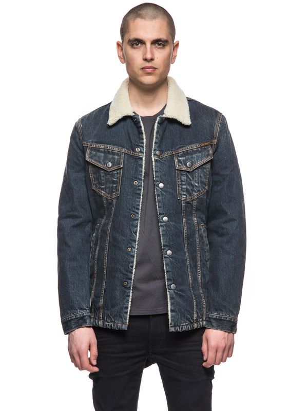 Lenny Indigo Steel Denim prewashed denim-jackets