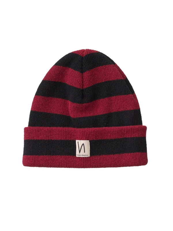 Liamsson Stripe Beanie Mantle Red