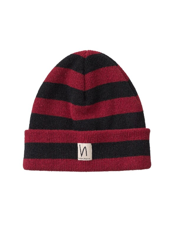 Liamsson Stripe Beanie Mantle Red hats accessories