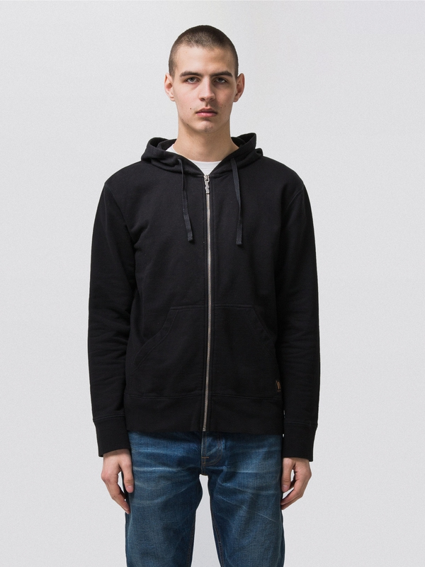 Loke Light Zip Hood  Black sweatshirts sweaters