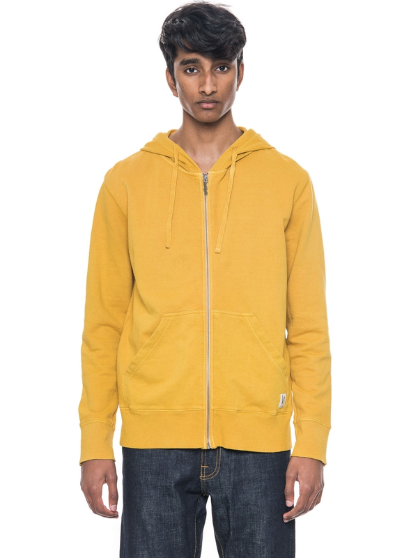 Loke Light Zip Hood  Royal Yellow sweatshirts sweaters