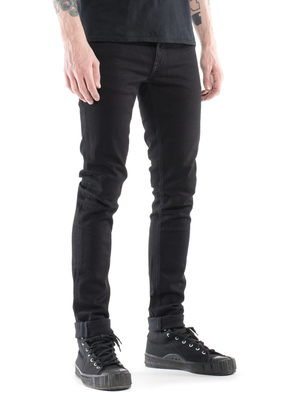 Long John Black Black - Nudie Jeans