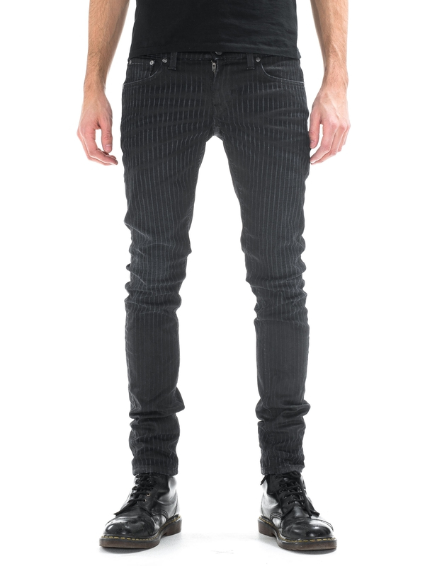 Long John Pin Stripe black jeans