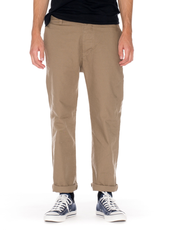 Loose Alvar Desert Green canvas pants