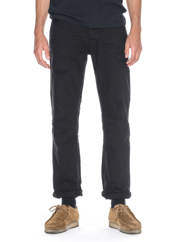 Loose Leif Pitch Black prewashed jeans