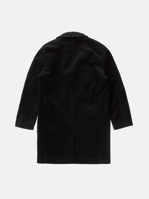 Ludde Double Breasted Cord Black