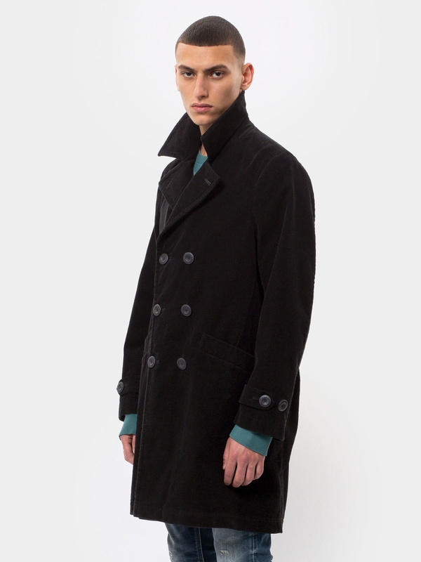Ludde Double Breasted Cord Black jackets
