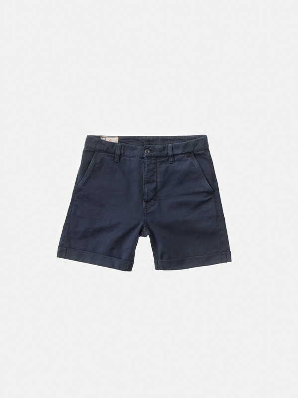 Shorts Luke Twill Nudie Jeans Navy H9YEbe2WDI