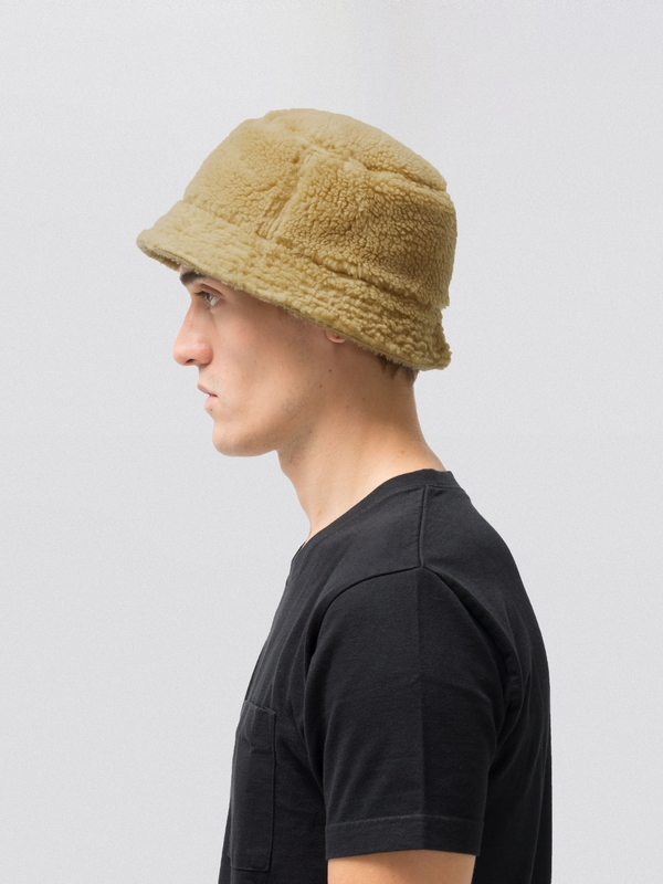 Mathsson Fleece Bucket Hat Beige hats accessories