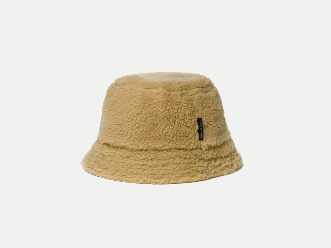 c53aabc8bfe Mathsson Fleece Bucket Hat Beige - Nudie Jeans