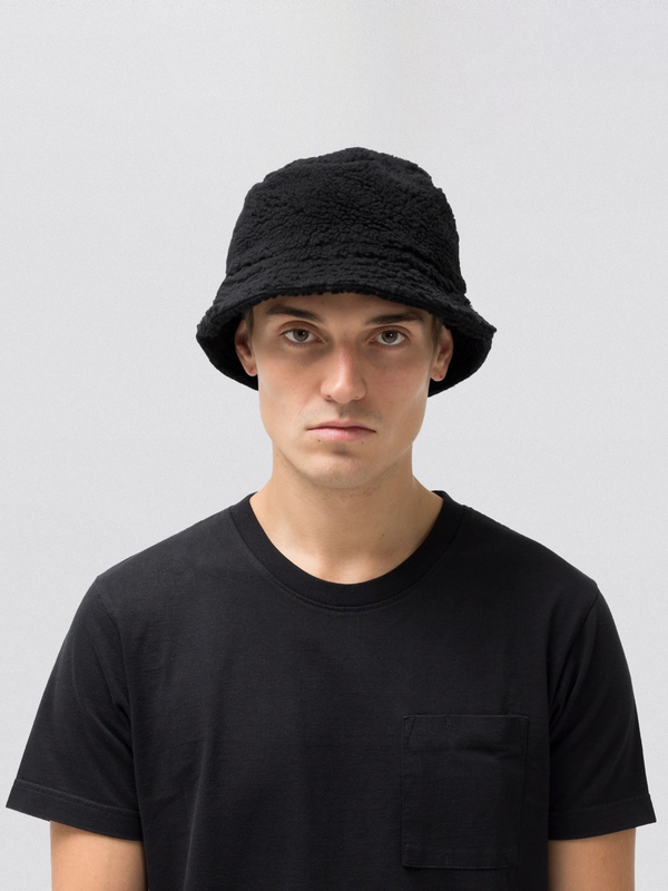 Mathsson Fleece Bucket Hat Black accessories hats