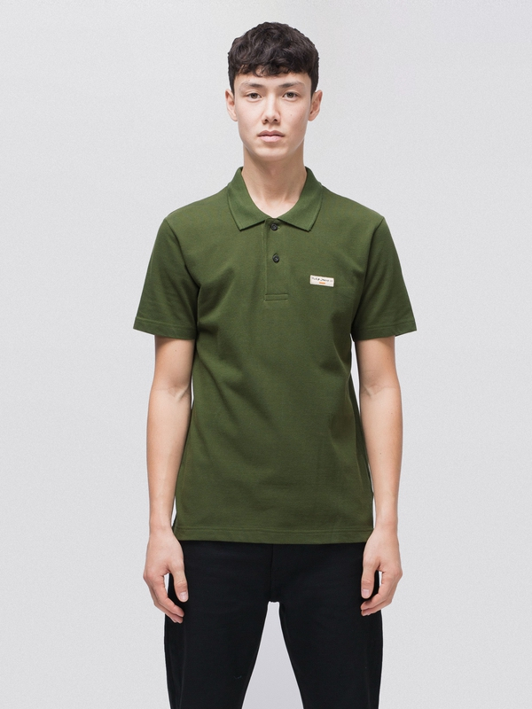 Mikael Logo Polo Shirt Lawn short-sleeved tees solid