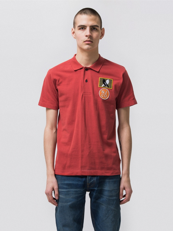 Mikael Polo Shirt Aurora Red short-sleeved tees printed