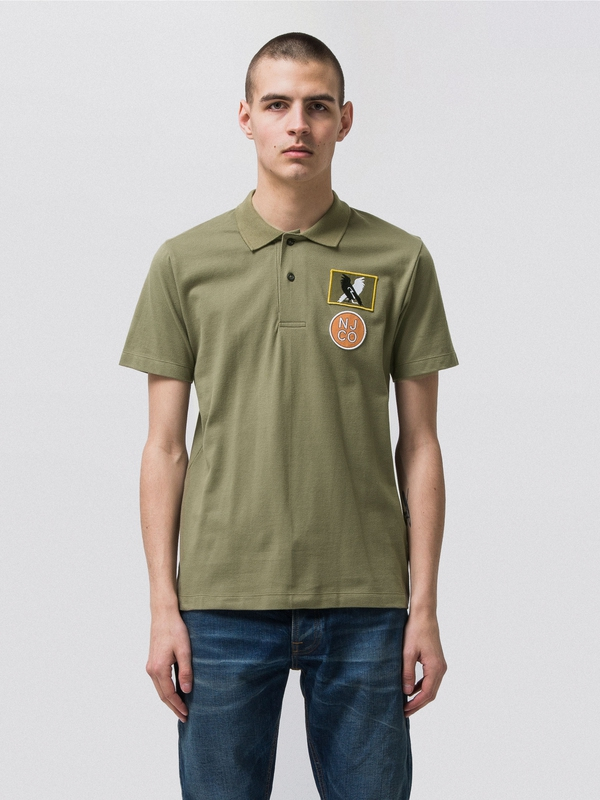Mikael Polo Shirt Beech Green short-sleeved tees printed