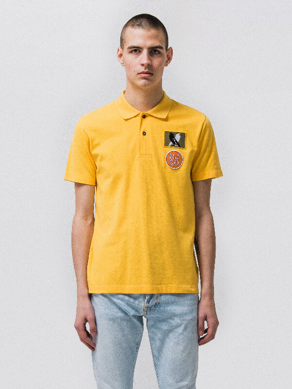 Mikael Polo Shirt Sun Yellow short-sleeved tees printed