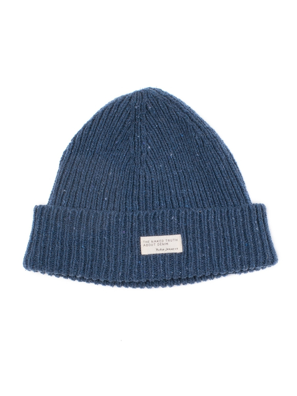 Nicholson Recycled Beanie Dark Blue hats accessories