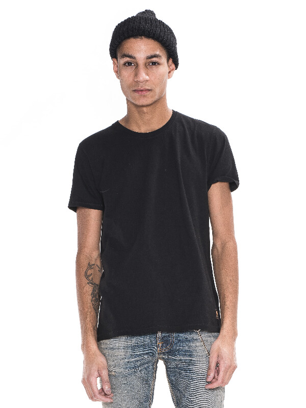 O-Neck Tee Black short-sleeved tees solid