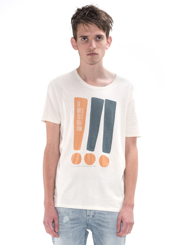 O-Neck Tee Exclamation Offwhite short-sleeved tees printed
