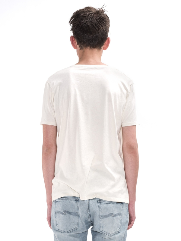 O-Neck Tee Exclamation Offwhite short-sleeved printed tees
