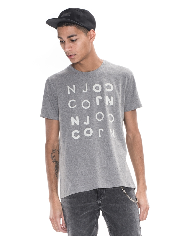 O-Neck Tee NJCONJCO Greymelange short-sleeved tees printed