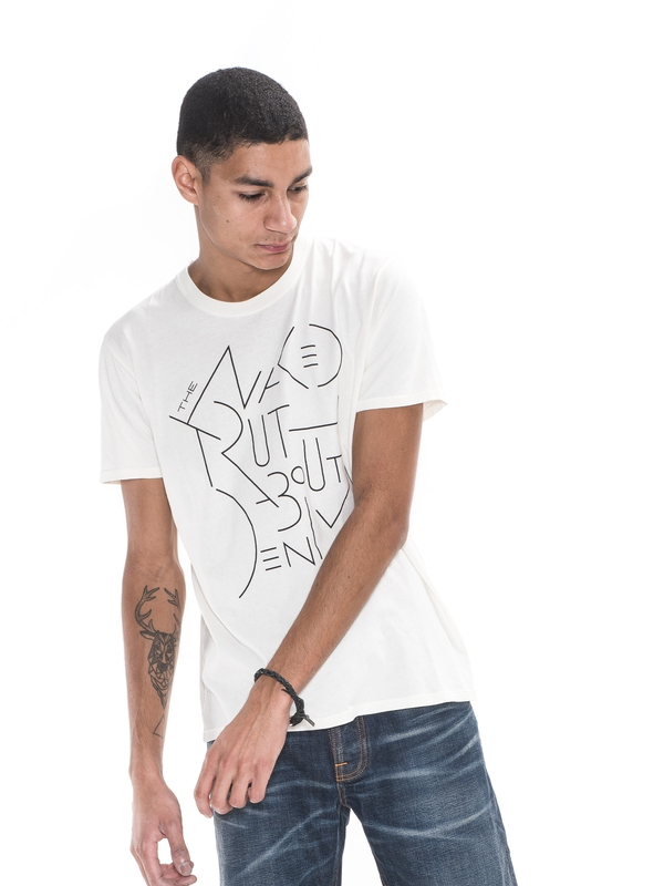 O-Neck Tee TNTAD Offwhite short-sleeved printed tees