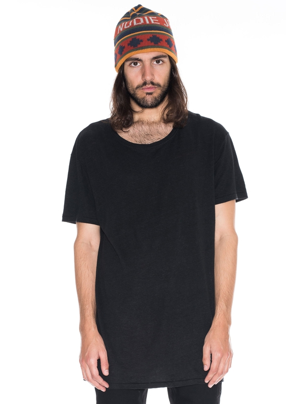 Olle Linen Black short-sleeved tees solid