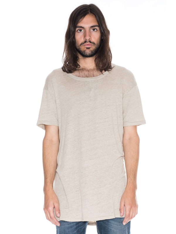 Olle Linen Sand short-sleeved tees solid