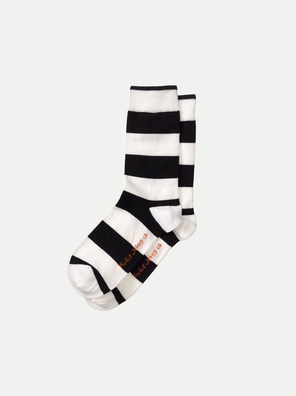 Olsson Block Stripe Offwhite/Black socks underwear