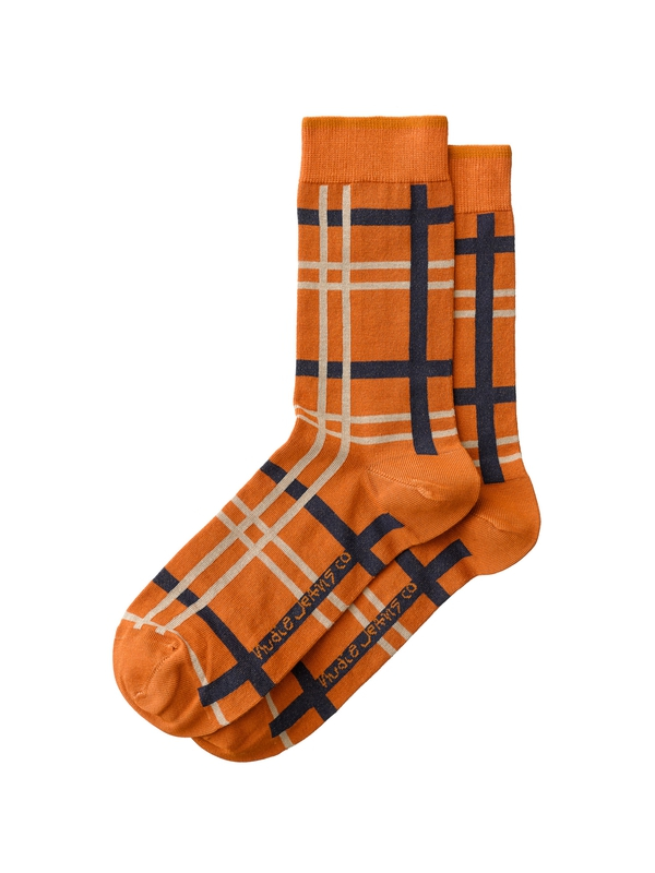 Olsson Check Socks Orange socks underwear