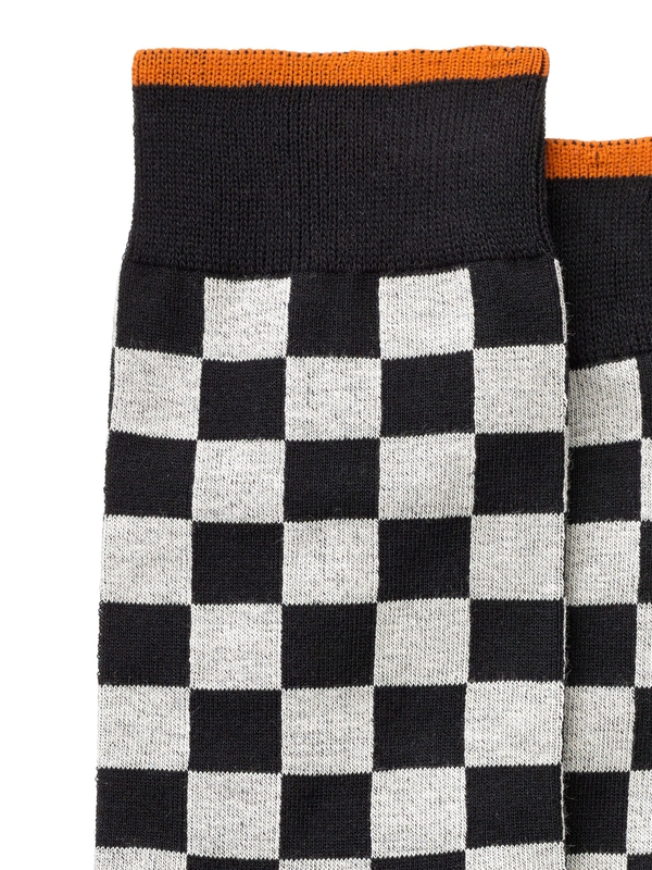 Olsson Checkers Socks Black