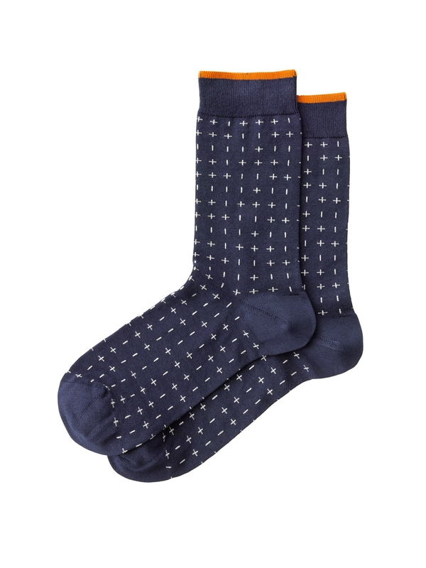 Olsson Cross Socks Navy socks underwear