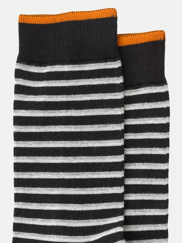 Olsson Double Stripe Socks Black