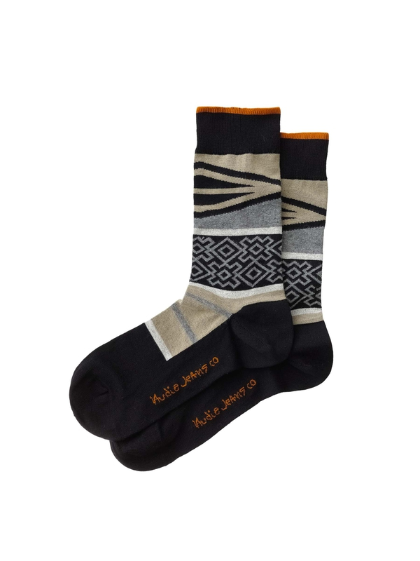 Olsson Folk Socks Black socks underwear