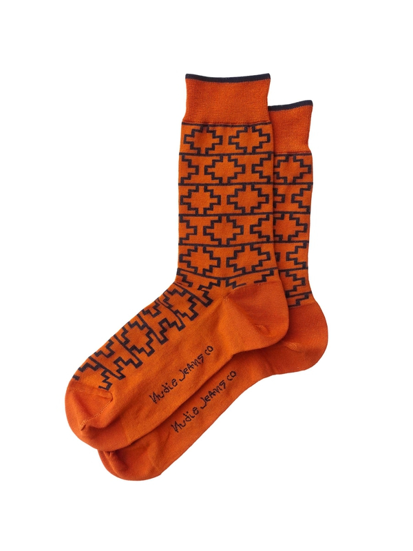 Olsson Graphic Socks Orange socks underwear