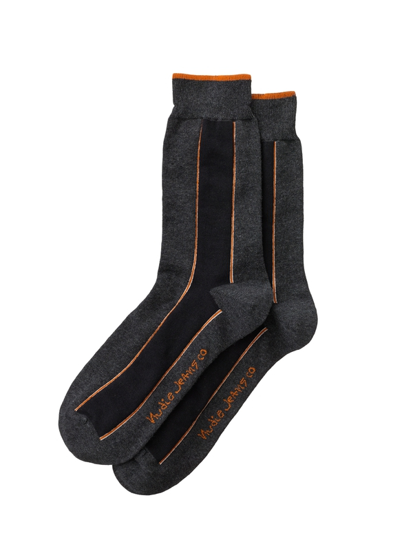Olsson Selvage Dark Grey socks underwear