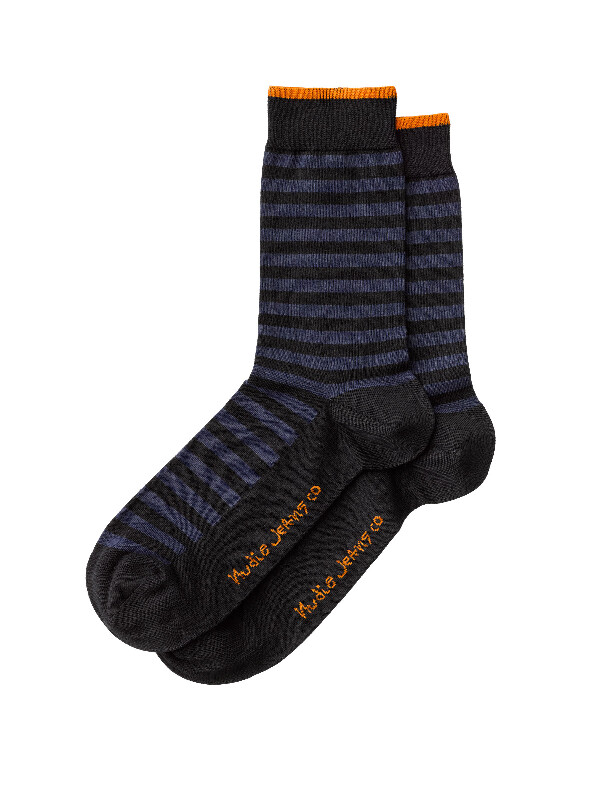 Olsson Striped Socks Navy socks underwear
